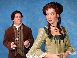 "Peter Husmann (John Adams) & Christanna Rowader (Abigail Adams) in ""1776"""