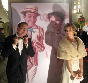 "Kristopher Kyer and Victoria Summer (as Dick Van Dyke and Julie Andrews) in ""Saving Mr. Banks"""