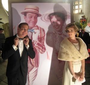 "Kristopher Kyer and Victoria Summer (as Dick Van Dyke and Julie Andrews) in ""Saving Mr. Banks"""