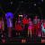 """Godspell"" ensemble: L-R: Patrick Batiste, Briana Brooks, Andrew Metzger, Dani Nicole, Austin Miller, Mazie Wilson, Jared Price, Katherine Bottoms, Shannon Anderson, Megan Tisler, Heather Siembieda, Kolton Kolbaba in the background."