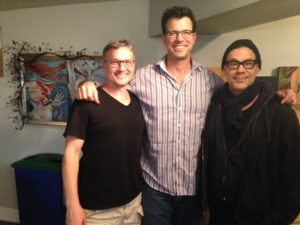 Brian McDonald, Jonathan Drahos, and Joseph Fuqua of the Rubicon Theatre Company's summer youth theater program