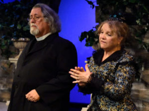 """John Pillsbury as Dr. Daly and Rebecca Pillsbury as Lady Partlet in Gilbert and Sullivan's """"The Sorcerer"""""""